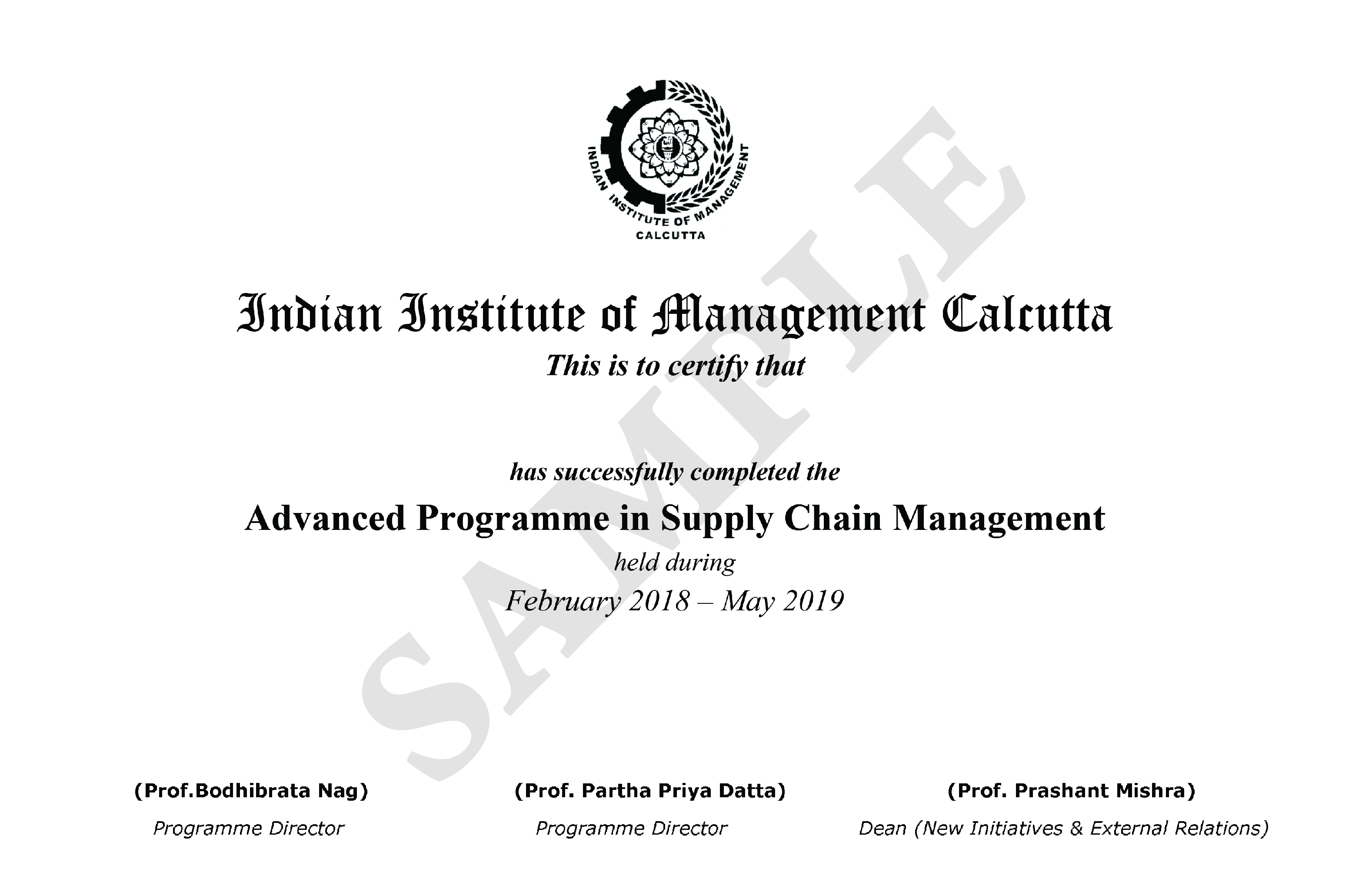 Advanced Programme in Supply Chain Management Courses (APSCM